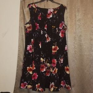 Dressbarn Black Floral Dress
